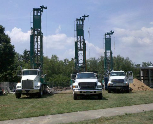 Merrill well drilling trucks